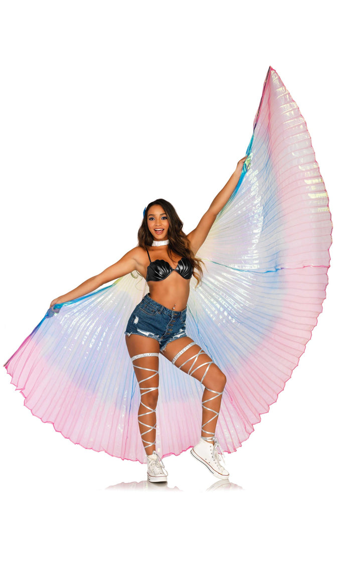 Boho Dreams Multicolor Rainbow Angel Wings