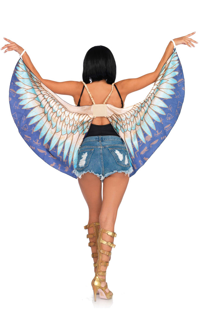 Bird Of Paradise Blue Feather Pattern Wings