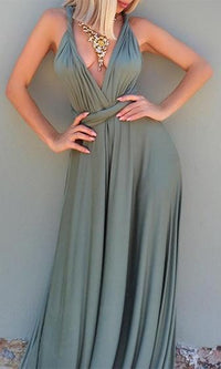 My One and Only Light Olive Green Adjustable Convertible Maxi Dress - Sold Out