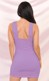 Play The Game Yellow Sleeveless Plunge V Neck Low Back Ruched Bodycon Mini Dress