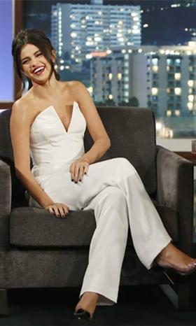 761a6997ee15 Good For You White Sleeveless Strapless Deep V Plunging Neck Fitted Full  Wide Ankle Length Pants