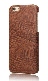 Crocodile Rock Brown Croc Embossed Credit Card Pocket Phone Case Cover - Sold Out