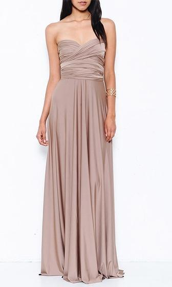 Forever in Your Eyes Beige Sleeveless Convertible Maxi Dress