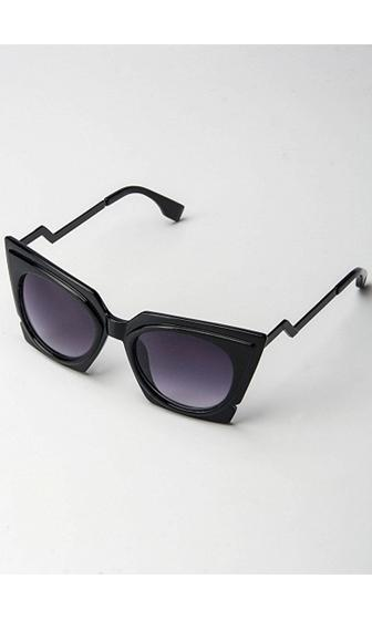 Cool Kitty Black Chunky Cat Eye Tinted Sunglasses -  Sold Out