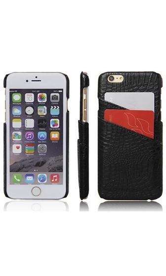 Crocodile Rock Black Croc Embossed Credit Card Pocket Phone Case Cover - Sold Out
