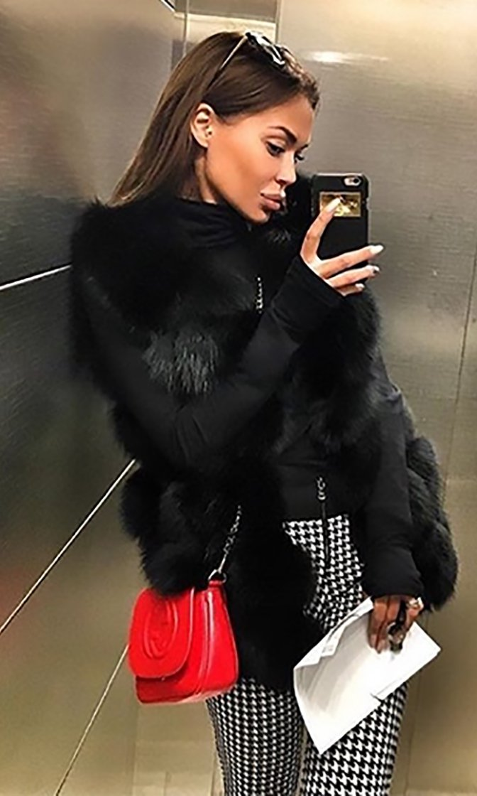 Furry Feeling Black Sleeveless Faux Fur Vest