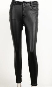 In The City Black Faux Leather Skinny Pants - Sold Out