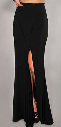 Dressed To Kill Black Front Slit Maxi Skirt - Sold Out