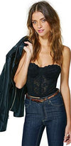 Fierce Female Black Lace Strapless Scallop Sweetheart Neck Bustier Top - Sold Out