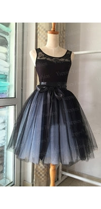 Front And Center Black Blue Ombre Tulle Pleated Layers Tutu Ball Gown Ballerina Midi Skirt - Sold Out