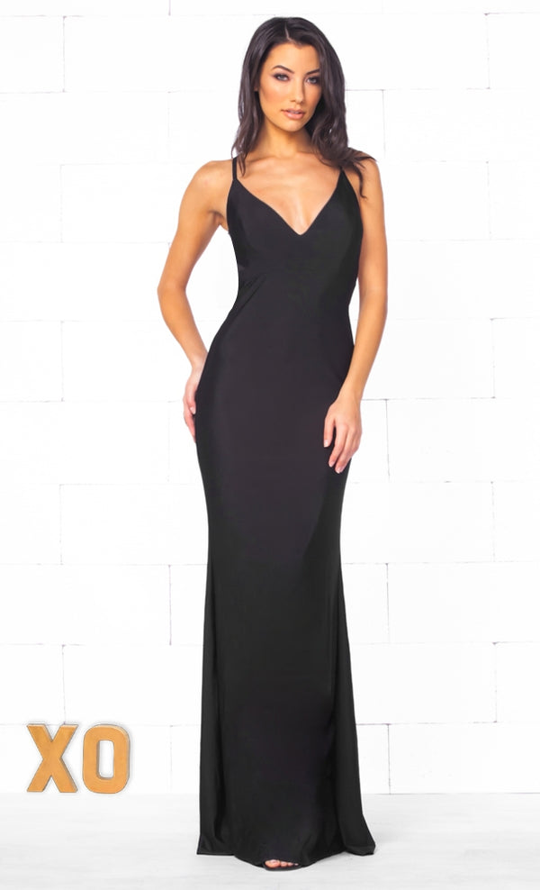 70244a0418 Indie XO In The Mood Black Sleeveless Spaghetti Strap Plunge V Neck  Backless Twist Ruched Bodycon