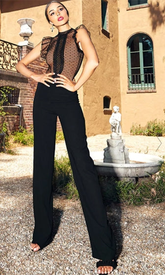 In My Element Black Wide Leg High Waisted Loose Palazzo Pants - Sold Out