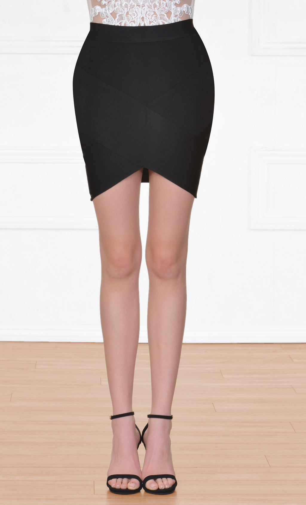 Indie XO Having A Ball Black Bodycon Tulip Bandage Mini Skirt
