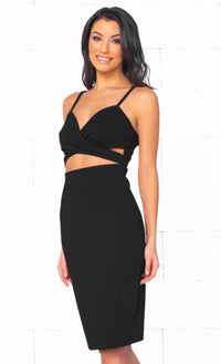 Indie XO Unforgettable Seduction Black Plunging V Neck Long Sleeve Bodycon Flowing Skirt Evening Maxi Dress - Just Ours! - Sold Out