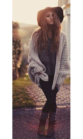 Hot Chocolate Brown Long Batwing Sleeve Textured Chunky Open Cardigan Sweater