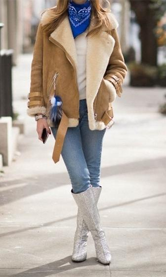 Out In The Cold Camel Brown Ivory Shearling Faux Fur Suede Long Sleeve Buckle Trim Coat- Sold Out