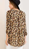 You're An Animal Cheetah Print Long Sleeve V Neck Tunic Blouse - 2 Colors Available - Sold Out
