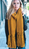 Cold Front Chunky Tassel Fringe Scarf - 5 Colors Available! - Sold Out