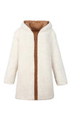 Warm Me Up Faux Fur Long Sleeve Hood Open Front Long Coat Outerwear - 4 Colors Available
