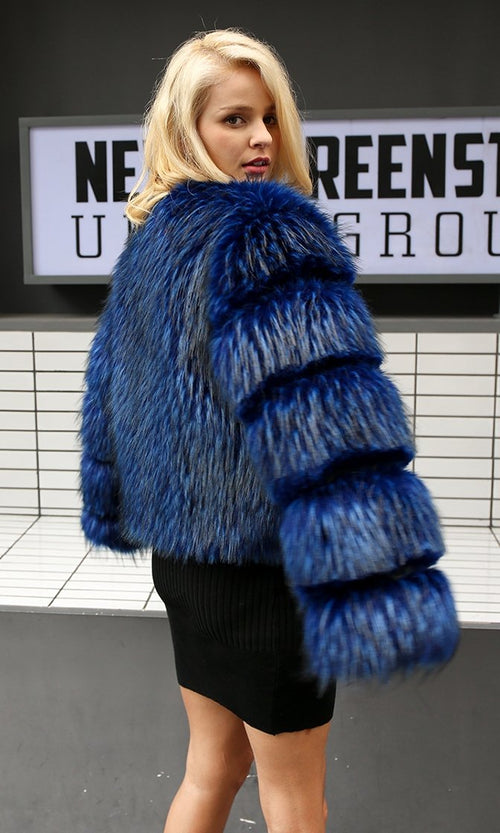 Lost And Found Fluffy Faux Fur Long Sleeve Coat - 2 Colors Available