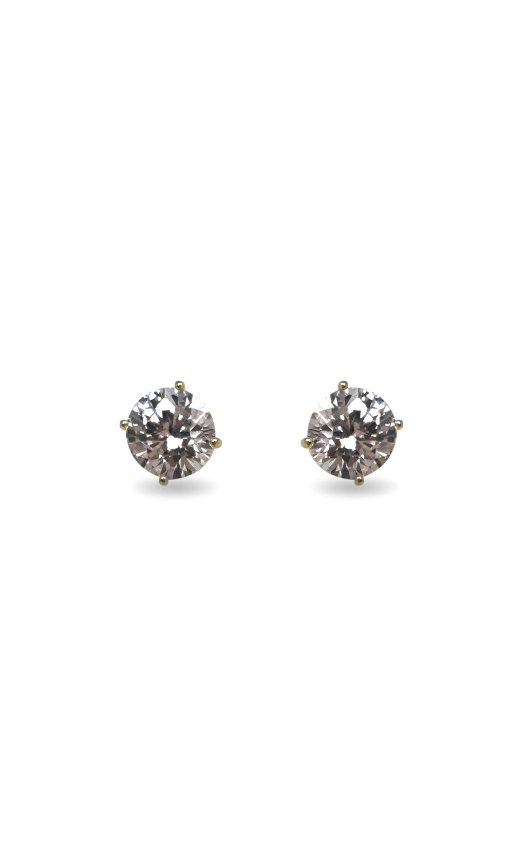 Indie XO Simple Elegance Gold Swarovski Crystal Rhinestone Stud Earrings
