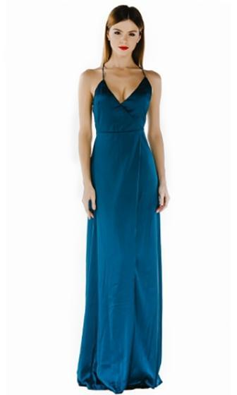 8842757171 On The A List Emerald Green Spaghetti Strap Cross Wrap V Neck Open Bac –  Indie XO