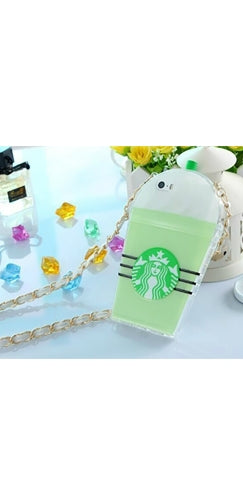 Mint Green White Black TPU Silicone Starbucks Cup Smart Phone Cover Case - Sold Out