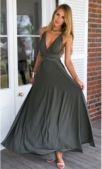 My One and Only Grey Adjustable Convertible Maxi Dress - Sold out