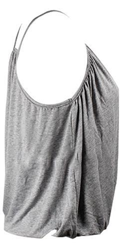 Heather Grey Spaghetti Strap Cross Wrap V Neck Halter Tank Top - Sold Out
