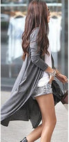 The Long Haul Grey Long Sleeve Cardigan Knit Sweater Jacket - Sold Out
