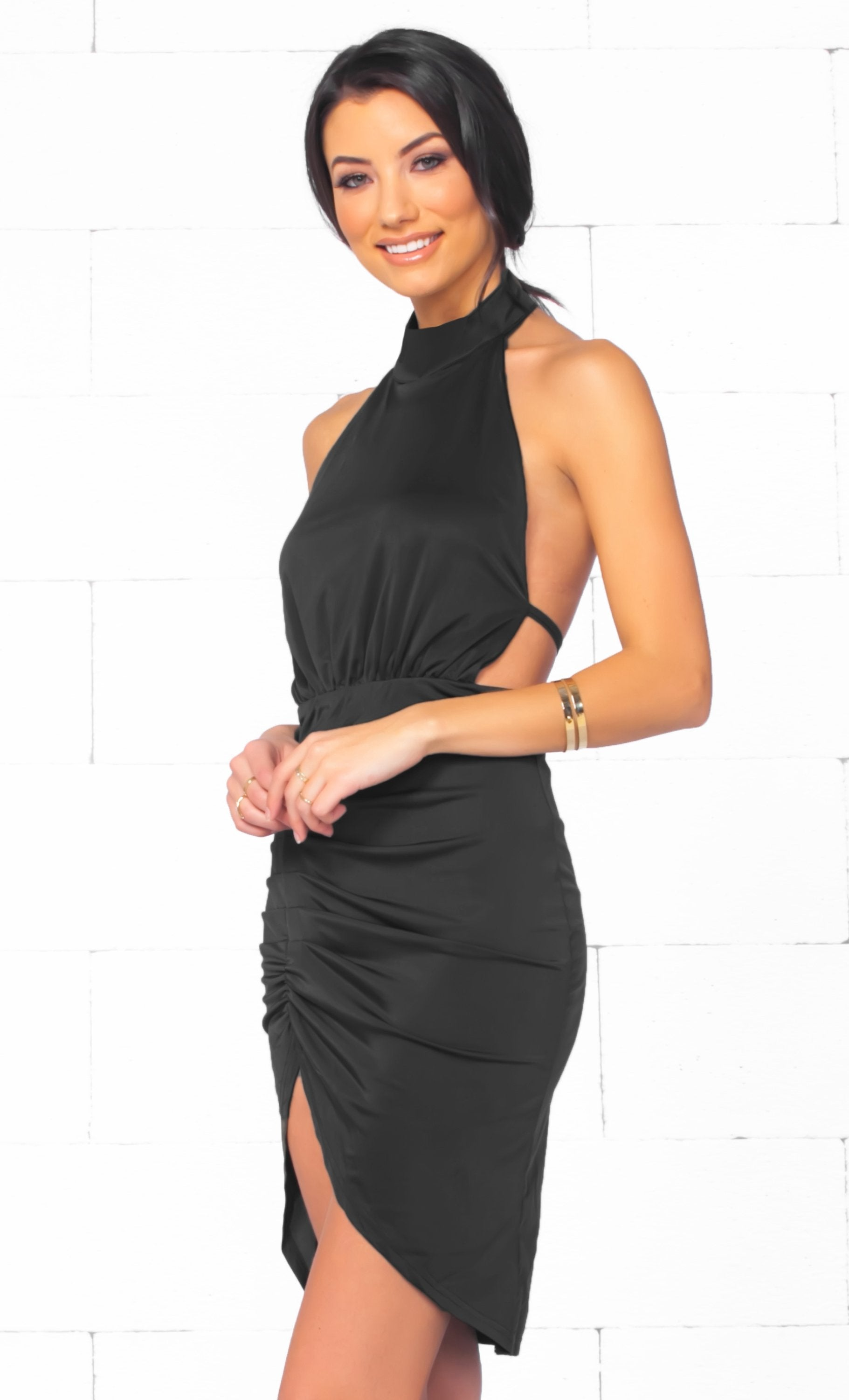 stud dress backless sleeveless pinterest pin products