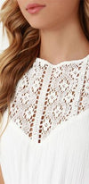 Dashing Dame Ivory Crochet Lace Sleeveless Halter Backless Elastic Maxi Dress - Sold Out