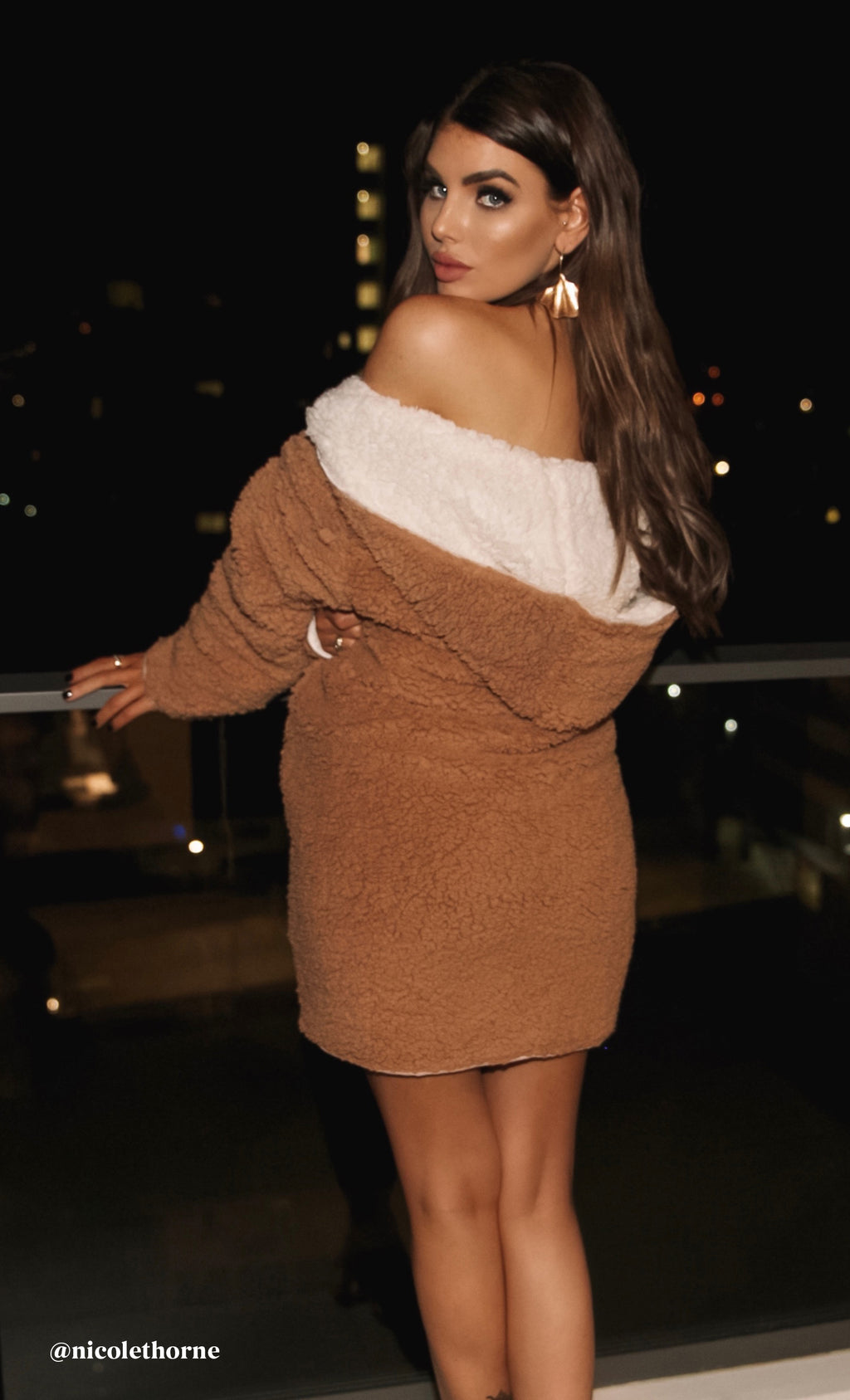 Warm Me Up Faux Fur Long Sleeve Hood Open Front Long Teddy Coat Outerwear - 4 Colors Available