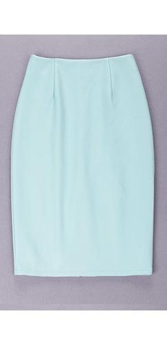 My Finest Hour Mint Green Slit Back Faux Leather Pencil Midi Skirt - Sold Out