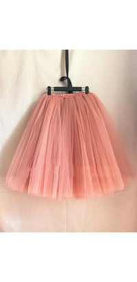 Pink Tulle Pleated Ballerina A Line Full Midi Skirt - Sold Out