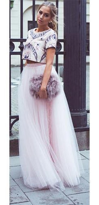 Princess For A Day Light Baby Pink Layered Pleated Elastic Waist Swiss Tulle Ball Gown Maxi Skirt - Sold Out