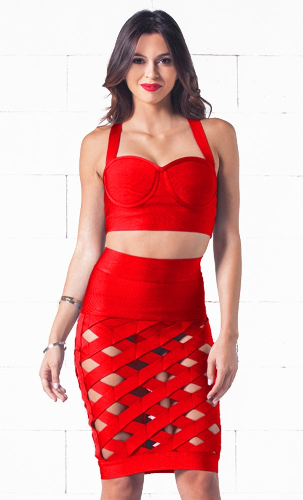 Indie XO Wild Child Red Two Piece Dress - Just Ours!