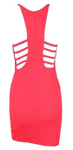 Look Out Red Spaghetti Strap V Neck Cut Out Ruched Wrap Tulip Bodycon Mini Dress - Sold Out