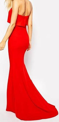 Ready For Love Red Strapless Folded Maxi Dress Gown - Sold Out