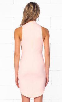 Indie XO Falling For You Pink Sleeveless Ribbed Mock Neck Cut Out Bodycon Mini Dress - Just Ours! - Sold Out