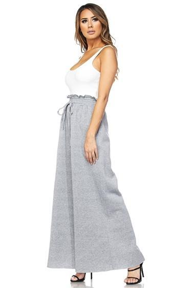 Widen Your Circle Ruffle High Waist Wide Leg Pants - 2 Colors Available (Pre-Order)