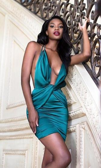 You'll Miss Me Satin Double Sleeveless Spaghetti Strap Backless Halter Plunge V Neck Cross Wrap Bodycon Mini Dress - 3 Colors Available