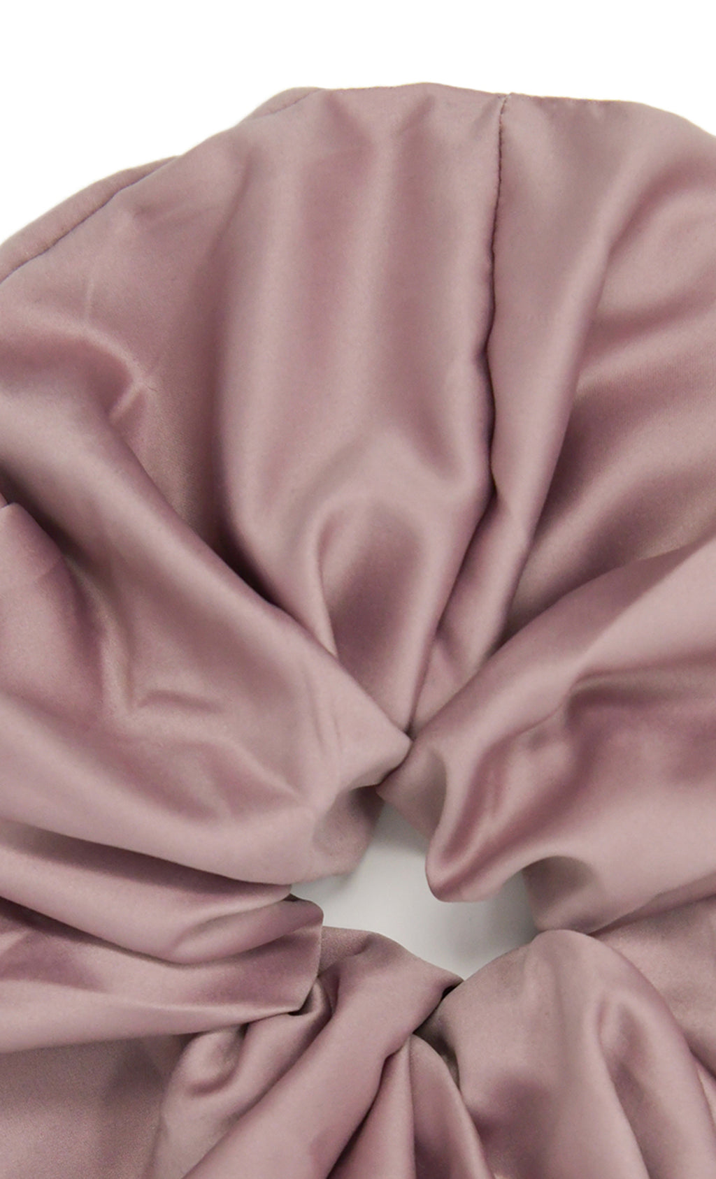 Super Size Me Mauve Oversized Pure 100% Silk Handmade Scrunchie Soft Luxury Spa Hair Tie