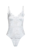 Call Me Tomorrow Sheer Mesh Lace Sleeveless Spaghetti Strap V Neck Bodysuit Top - 3 Colors Available - Sold Out
