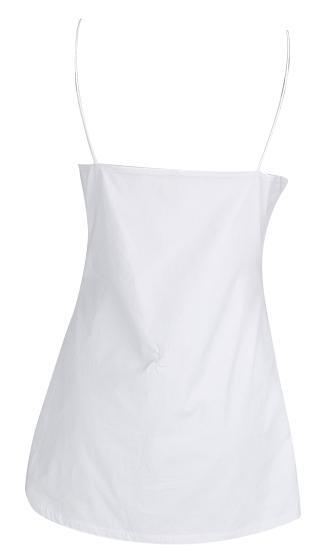 Cutting Ties White Spaghetti Strap V Neck Tie Hem Mini Dress - Sold Out