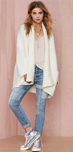 Cover It Up White Long Sleeve Chunky Open Front Long Cardigan Sweater - Sold Out