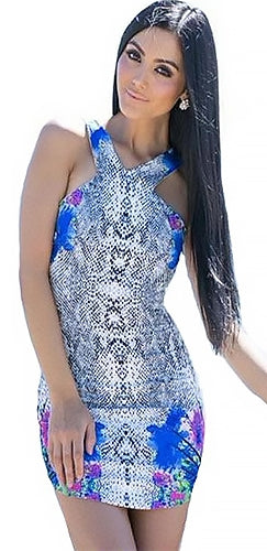 a6c4a09508d Can t Commit White Blue Black Grey Purple Green Python Floral Sleeveless V  Neck Halter