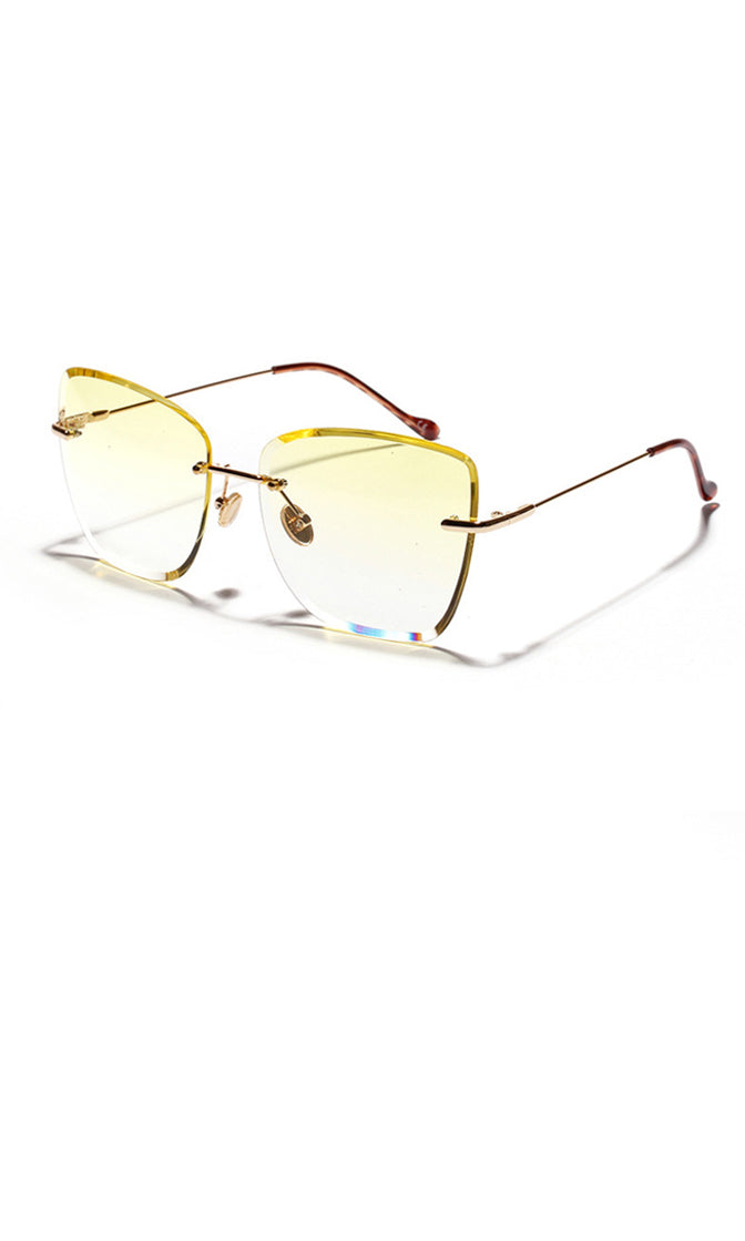 Seeing The Light Rimless Square Wire Frame Sunglasses - 5 Colors Available