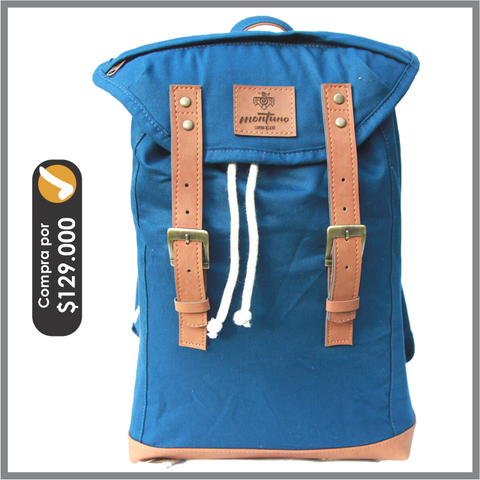Back Pack Mediano Azul