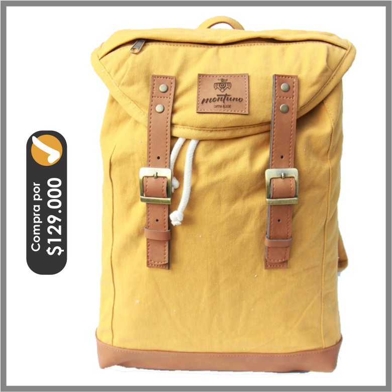 Back Pack Mediano Mostaza